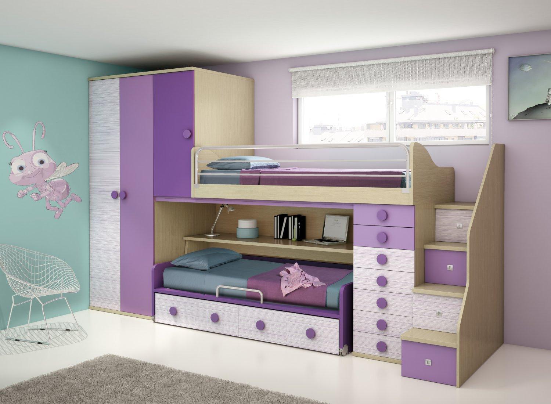 Camas literas modernas - Habitaciones infantiles compartidas ...