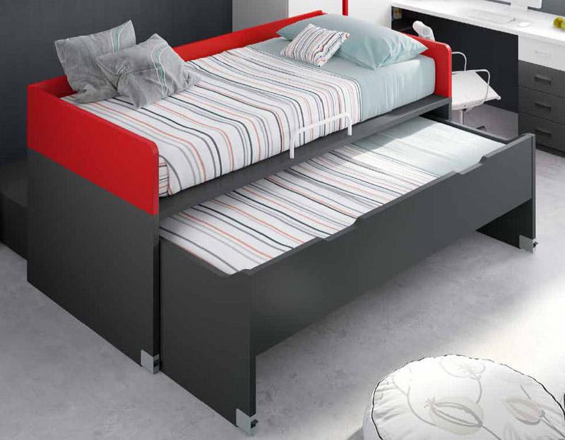 compacto cama desplazable