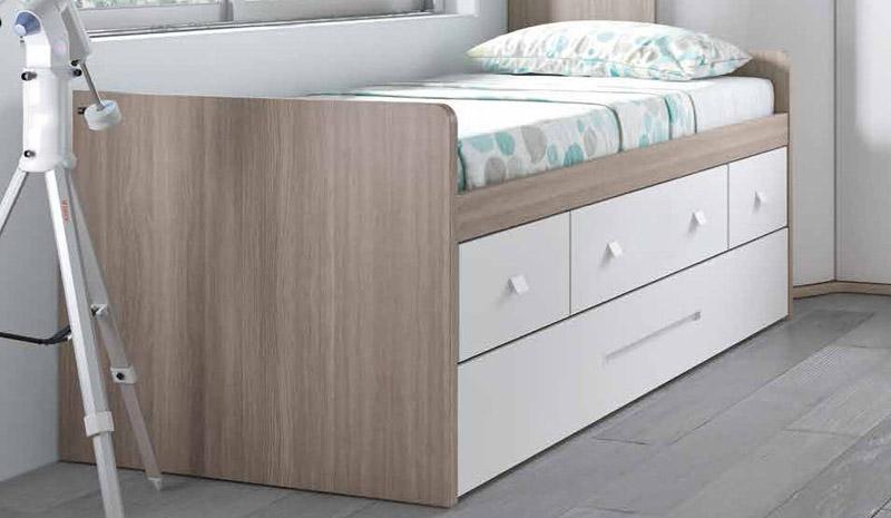 compacto cama inferior