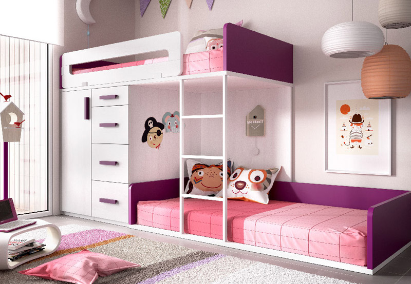 Dormitorios juveniles completos muebles camobel for Dormitorios juveniles tipo tren