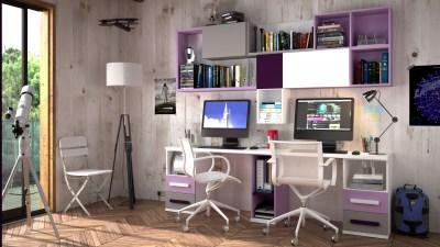 Escritorios juveniles muebles camobel madrid for Escritorios dobles juveniles